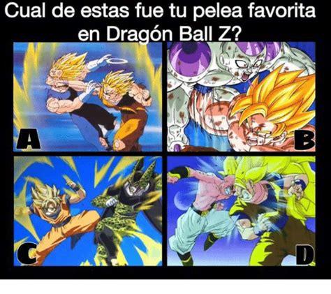 Memes De Dragon Ball Z En Espaã Ol - cual de estas fue tu pelea favorita en dragon ball z