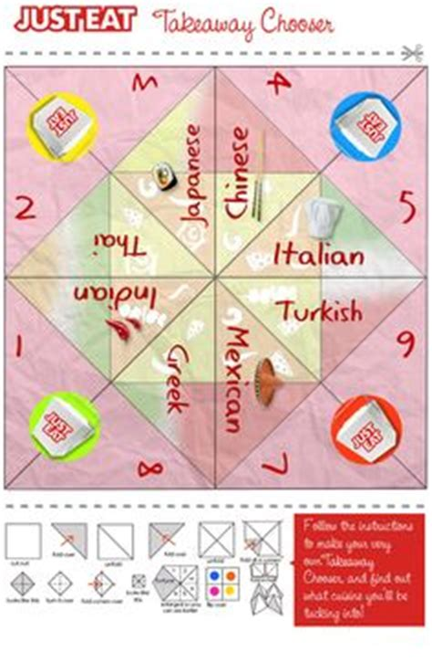Origami Decision Maker - foodie infographics pictures on food
