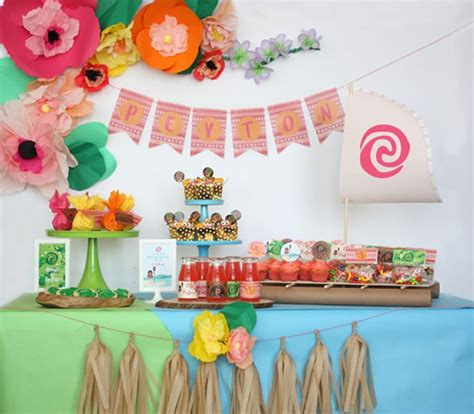 printable theme party decor 27 disney moana birthday party ideas pretty my party