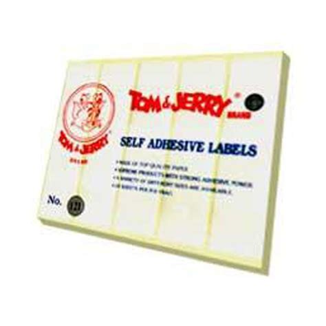 Tom Jerry Sticker Label No 107 jual self adhesive sticker label tom and jerry for