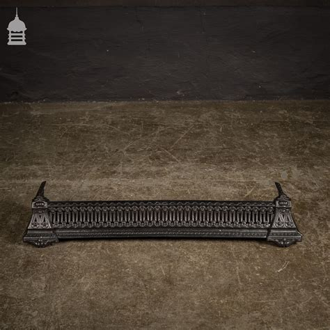 Cast Iron Fireplace Fender by Small Decorative Cast Iron Fireplace Fender