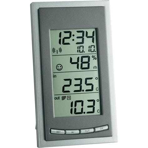 Thermohygrometer Tfa wireless thermo hygrometer tfa go grey from conrad