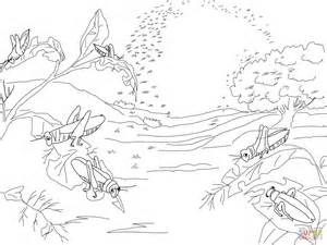 plague of locusts coloring page free printable coloring