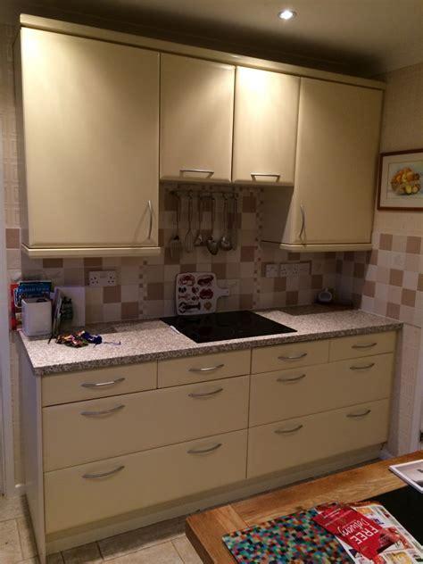 Mr Seconds Kitchen Cabinets Mr Mrs Door Worktop Change Second Nature Remo White With Corian Worktops