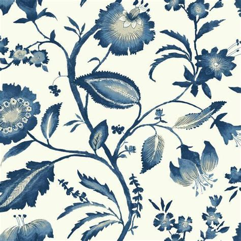 jacobean wallpaper for walls watercolor jacobean wallpaper in blue design by york