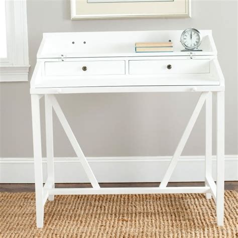 small white writing desk with drawers tyres2c