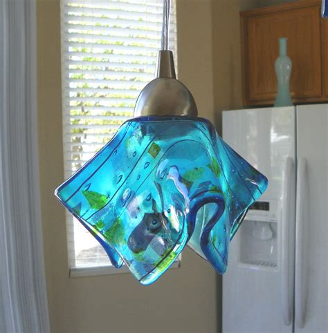 glass pendant lighting for kitchen islands blue confetti glass pendant light l kitchen island
