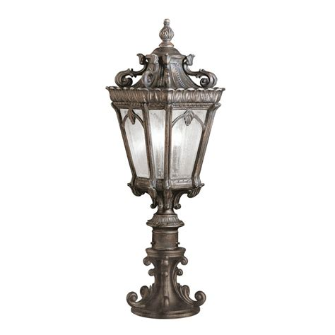 victorian style outdoor lighting gate post lantern or pedestal light cast aluminium with