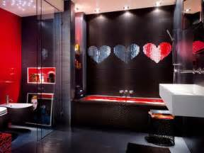 Red And Black Bathroom Ideas red and black bathroom decorating ideas room decorating