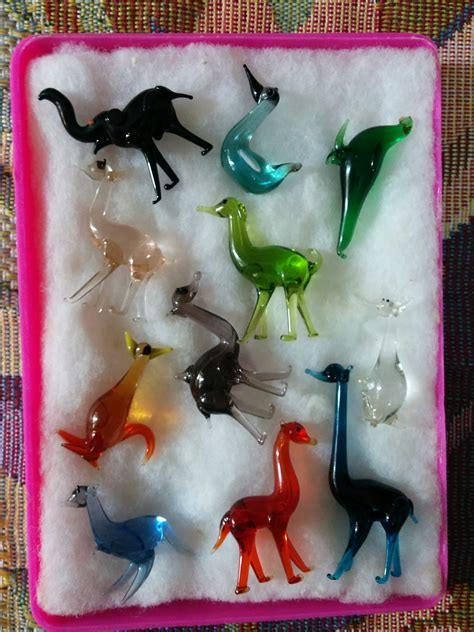 Handmade Glass Animals - these handmade glass animals i picked up at a craft fair