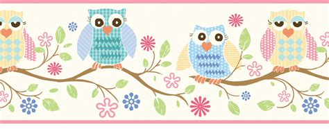 Camo Wall Stickers wise owls wallpaper border
