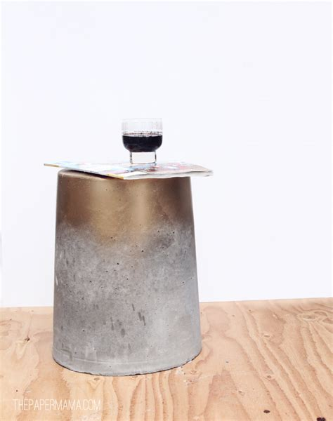 diy side table 18 diy concrete coffee and side tables