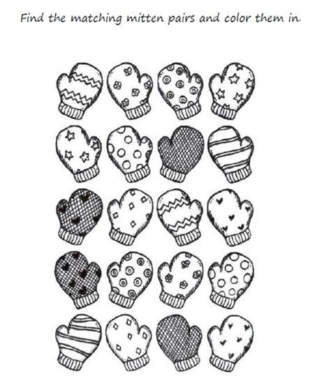 preschool mittens coloring page preschool mitten winter coloring pages printable zima