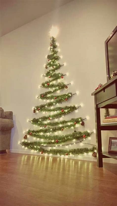 how to make a wall christmas tree our tree 2013 time doing something like this and it was so easy