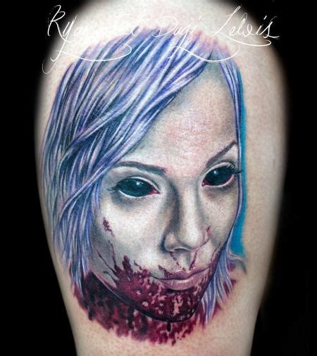 hot zombie tattoo ryan el dugi lewis tattoos movie horror vire sexy