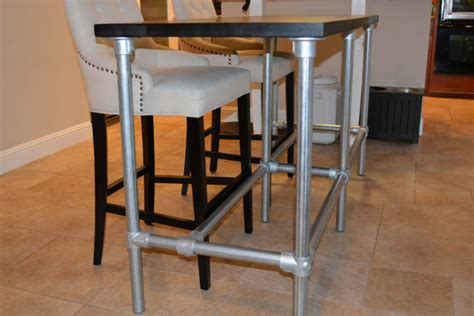 Wood Legs For Kitchen Island by Diy Counter Height Table With Pipe Legs