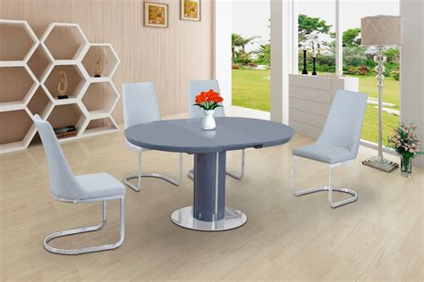 White High Gloss Dining Table And 4 Chairs Grey Glass High Gloss Dining Table And 4 White Chairs