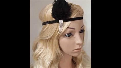 Do It Yourself Hairstyles Gatsby You Tube | diy handmade 1920s gatsby flapper feather wedding bridal
