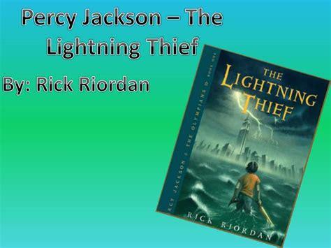 percy jackson the lightning thief book report ppt percy jackson the lightning thief powerpoint