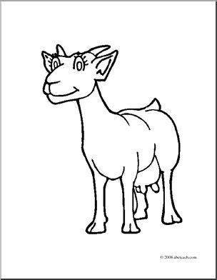 nanny goat coloring page clip art cartoon goat nanny goat coloring page i