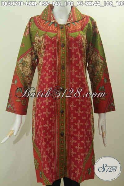 55 Baju Untuk Wanita Warna Merah baju dress wanita dewasa dengan nuansa warna merah berbahan halus proses printing halus untuk