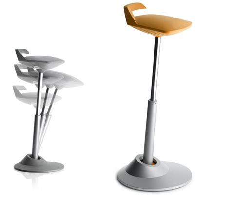 stool chair hybrid swings into the office wired