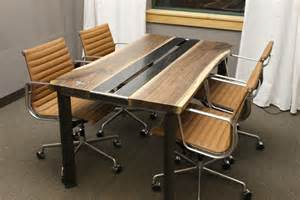 Live Edge Conference Table Made Live Edge Walnut Conference Table By K Modern Design Custommade