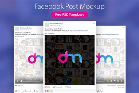 Facebook Post Mockup Templates Psd Download Download Psd Post Design Template