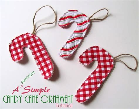 easy sew candy cane ornament holiday candy cane ornaments