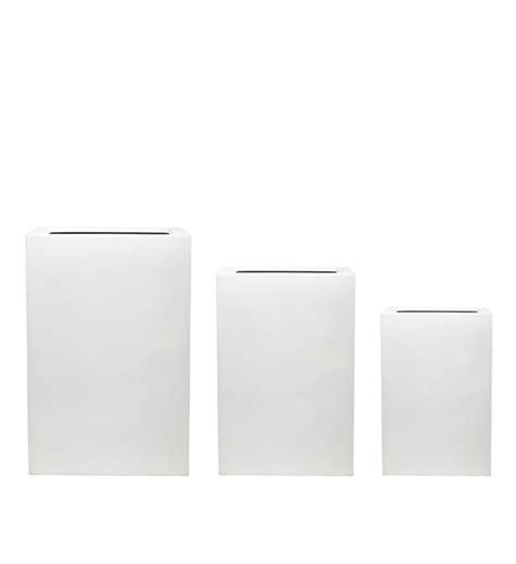 pflanzkübel fiberglas grau blumenk 252 bel quadratisch wei 223 bestseller shop