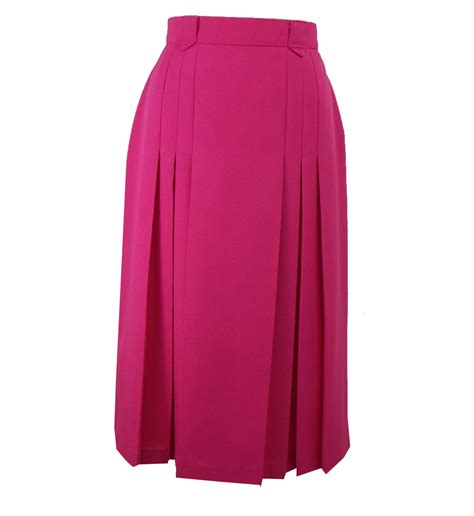 bright pretty pink vintage semi pleated skirt elizabeth