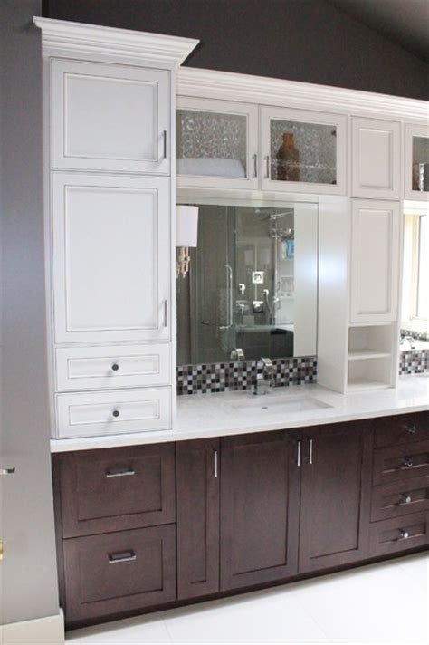 two tone bathroom cabinets two tone bathroom traditional bathroom other metro