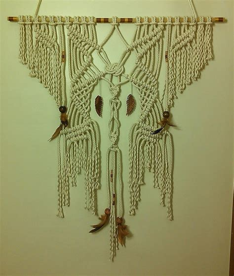 handmade macrame wall tapestry by laceypatt on deviantart