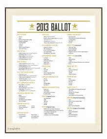 Ballot Template by Nomination Ballot Gallery