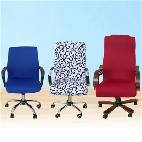 Office Desk Chair Covers Elastic Computer Chair Cover Spandex Office Chair Cover Dining Chair Washable Removable Rotating