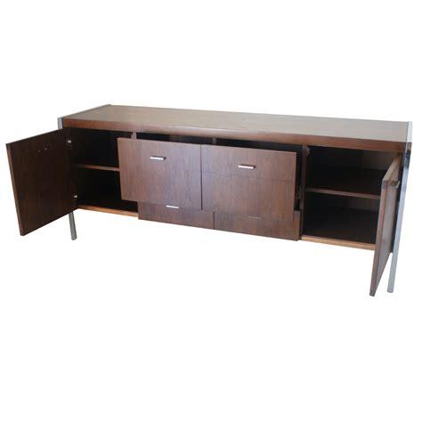 credenza cabinet 6ft vintage jasper walnut chrome credenza cabinet ebay