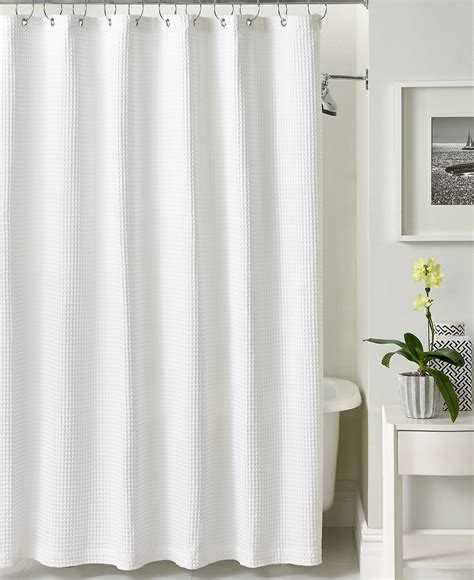 showe curtain hotel collection bath accessories waffle shower curtain