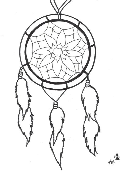 dreamcatcher template outline simple dreamcatcher design