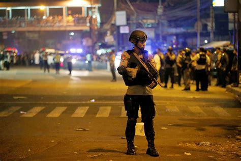 Cctv East Jakarta City Jakarta 13210 two explosions rock jakarta indonesia in suspected bombing cbs news