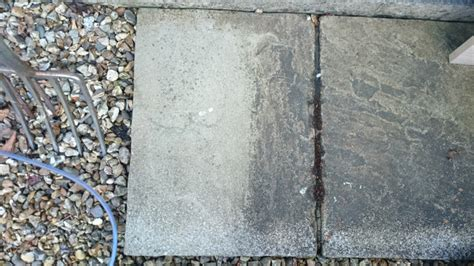 Cleaning Concrete Patio Slabs by Easy Patio Deck Cleaner Removing Stubborn Dirt And
