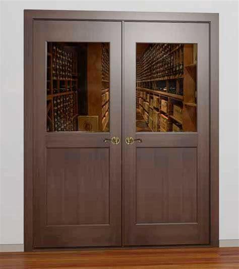 half glass front door wine cellar door etching by vigilant wine room door