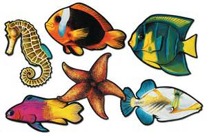 Tropical Themed Costumes - fish cutouts cafields com