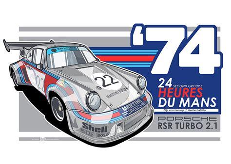 porsche turbo poster porsche 911 rsr turbo 2 1 le mans print simply petrol