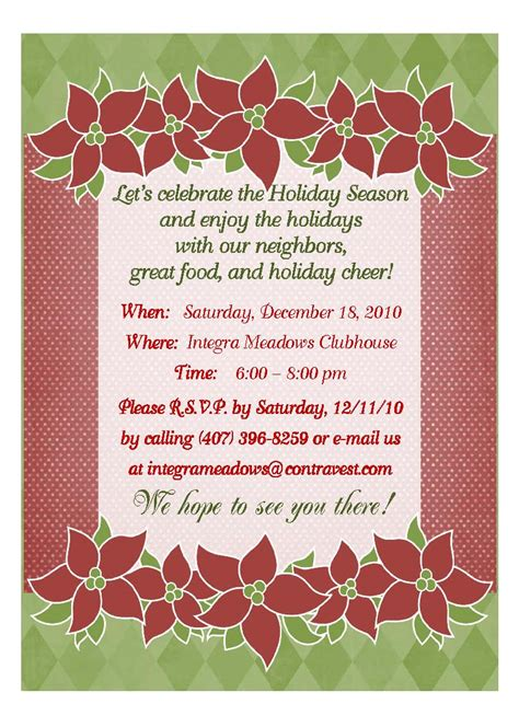 integra meadows blog residents christmas dinner invitation