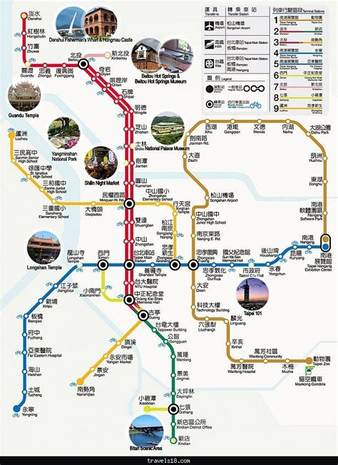 map of with tourist attractions taipei map tourist attractions http travels18