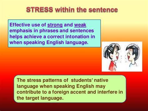 stress pattern english language sress in sentences