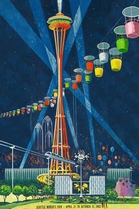 seattle worlds fair   fine art print  lantern