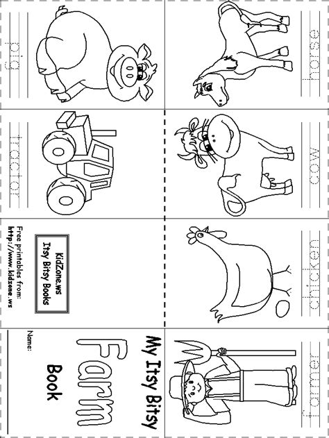 printable animal activity book itsy bitsy book farm