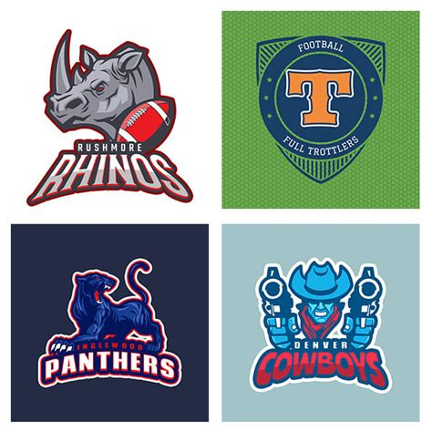 football team logo template football logo maker create team logos in seconds