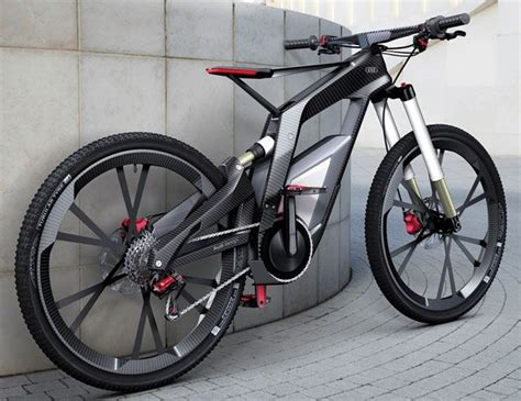 audi s performance electric mountain bike complete with a